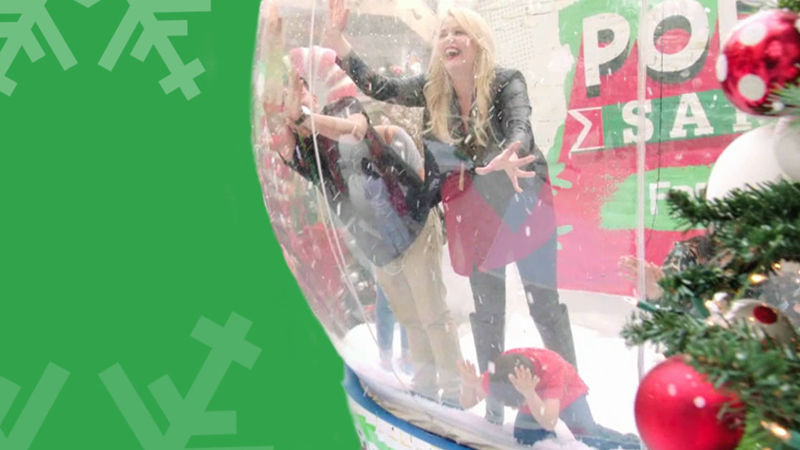 25 Days of Christmas - Melissa Peterman Gets Inside A Giant Snowglobe In This Goldfish® Colors Pop Up Santa! - Thumb