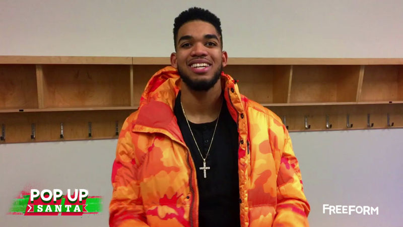 25 Days of Christmas - Watch NBA Star Karl-Anthony Towns Spread Some Festive Joy In This Pop Up Santa! - Thumb