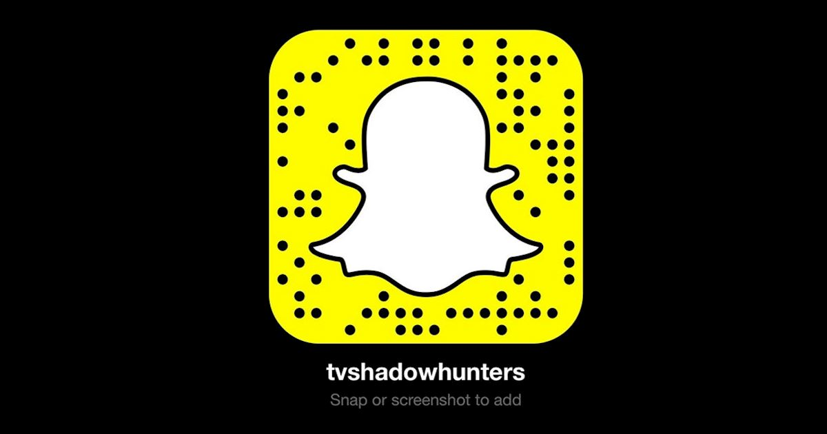Shadowhunters snapchat